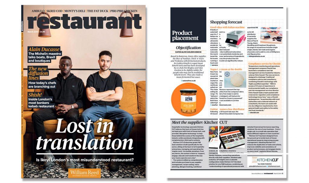 Restaurant Magazine - Meet the Supplier - March 2019