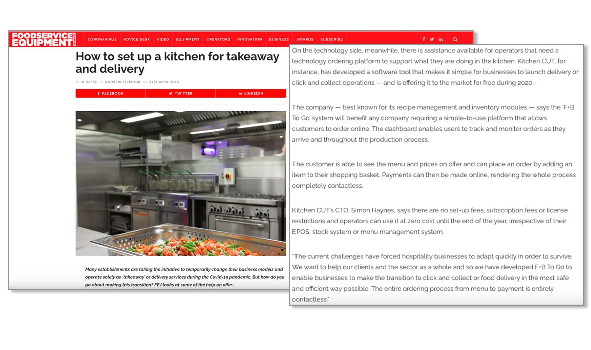Foodservice Equipment Journal - April 2020